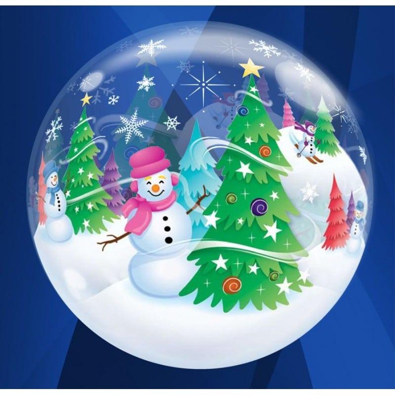 """Palloncini natalizi - pupazzi e alberi (22"""")"""