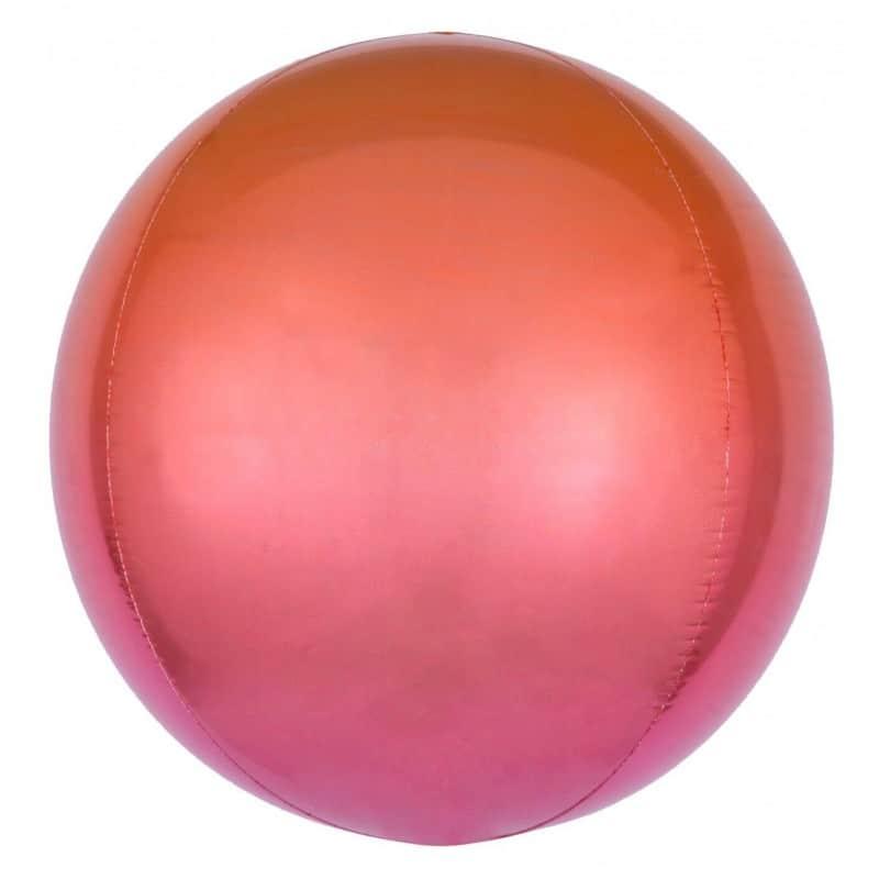 """Palloncini mylar animali Rosso e Arancio Orbz (16"""")"""