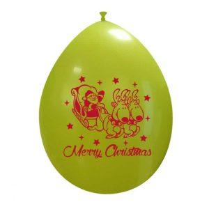 Palloncini natalizi - slitta di babbo natale