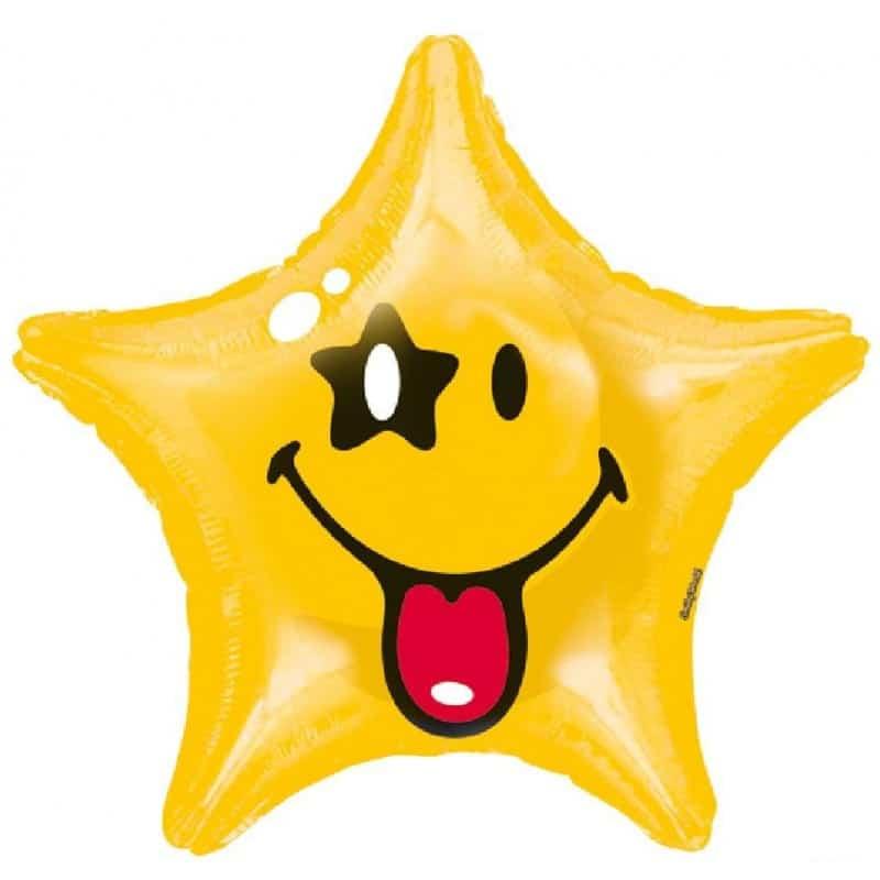 "Palloncini mylar vari Smiley Stella XL® (20"")"