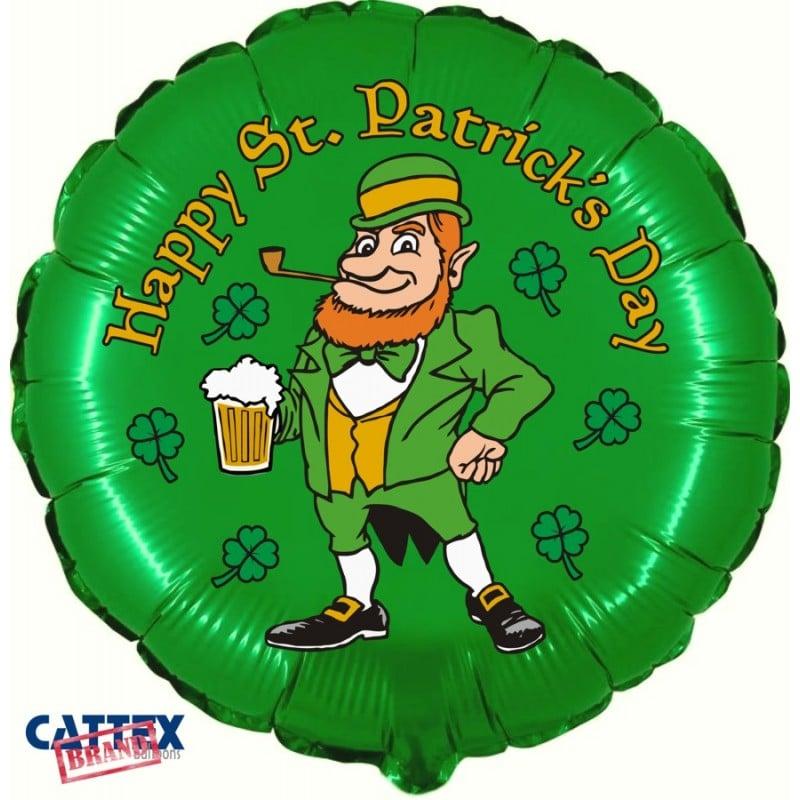 "Palloni Mylar Decorati Varie Mylar - St. Patrick's Day (18"")"