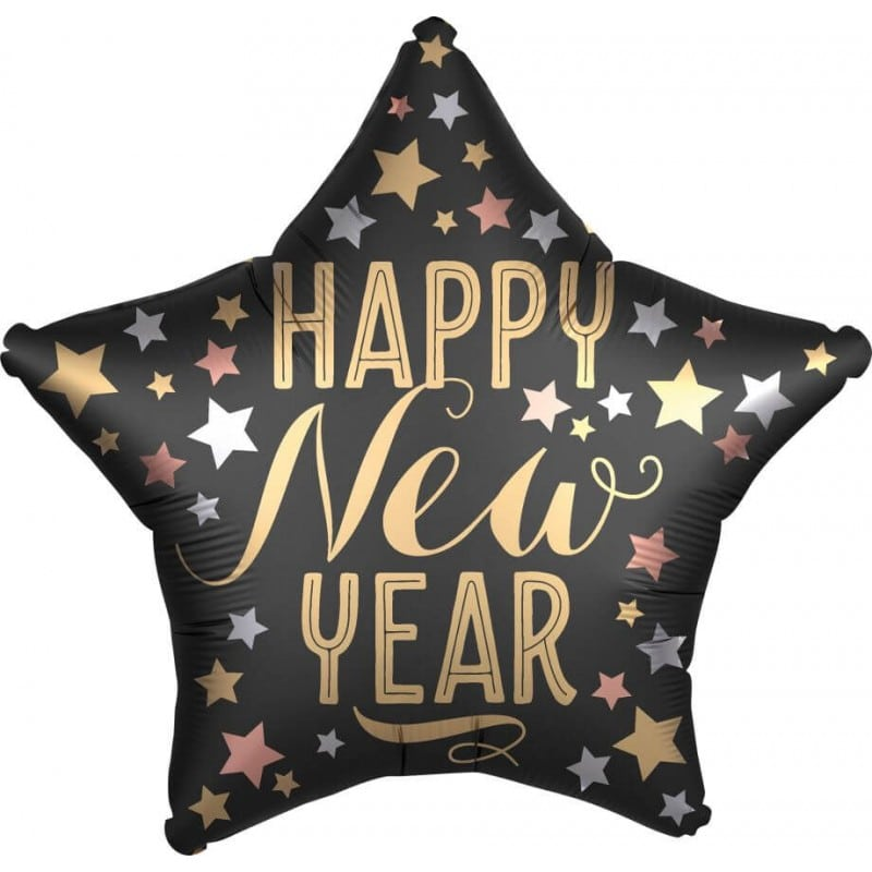 "Palloncini natalizi - stella happy new year (19"")"