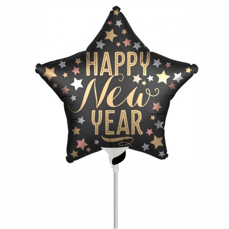 "Palloncini natalizi - stella happy new year minishape (10"")"