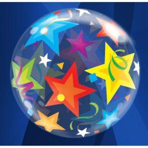 """Palloncini bubbles - stelle (22"""")"""