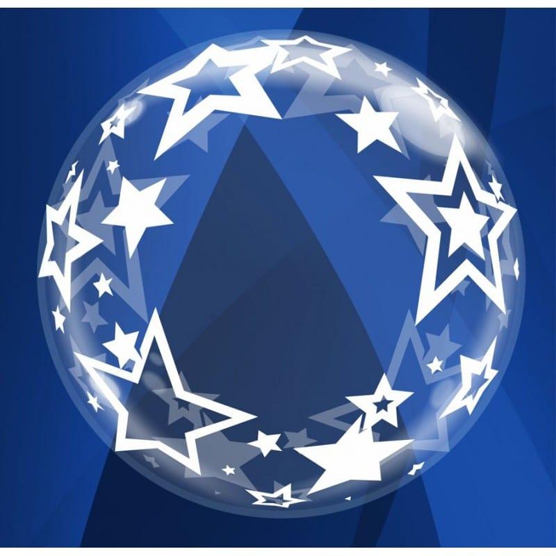 """Palloncini bubbles - stelle deco-bubble (24"""")"""