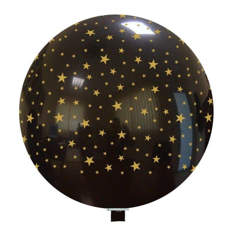 Palloncini natalizi - stelline (oro e nere)
