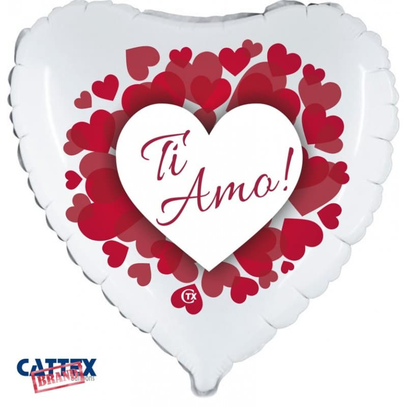 "Palloncini amore - ti amo cuoricini (18"")"