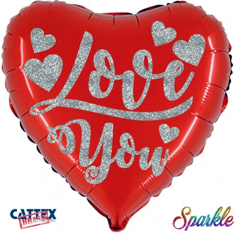 "Palloncini amore - ti amo sparkle (18"")"