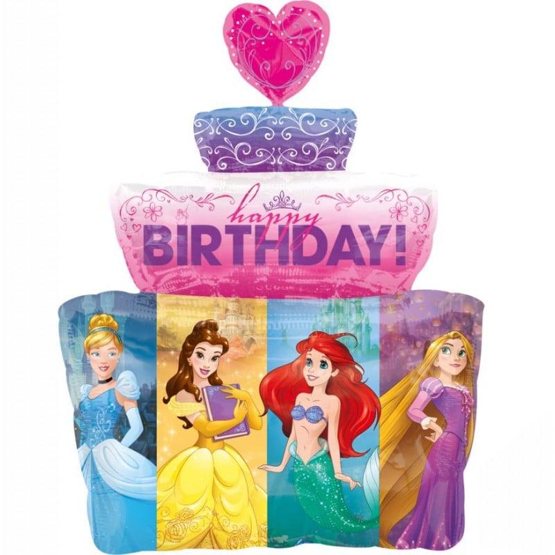 "Palloncini mylar Personaggi Torta Principesse Disney (28"")"