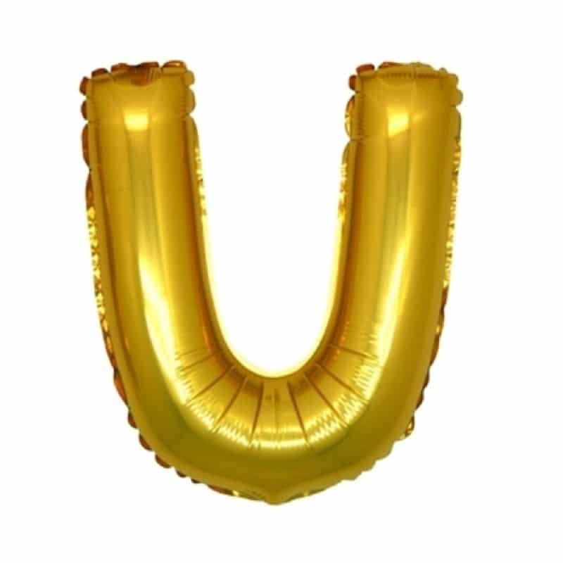 Palloncini lettere mylar medie -Lettera U