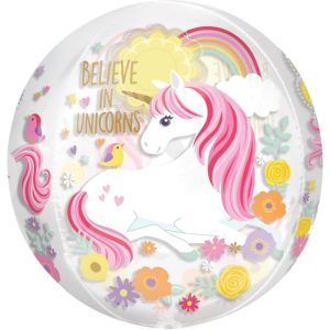 "Palloncini mylar Orbz Unicorno Magico - Orbz (16"")"