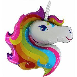 "Palloncini mylar animali Unicorno Supershape (40"")"