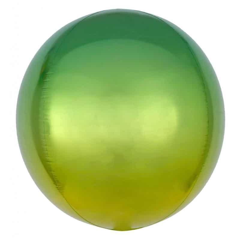 "Palloncini mylar animali Verde e Giallo Orbz (16"")"