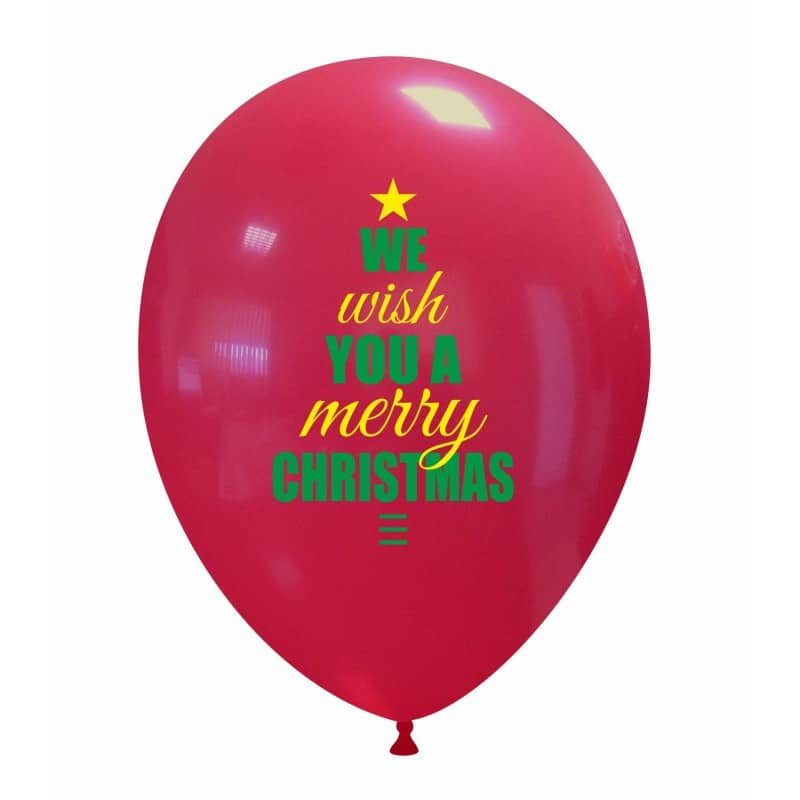 Palloncini natalizi - we wish you a merry christmas