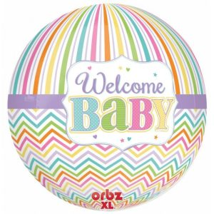 "Palloncini mylar Orbz Welcome Baby - Orbz (16"")"
