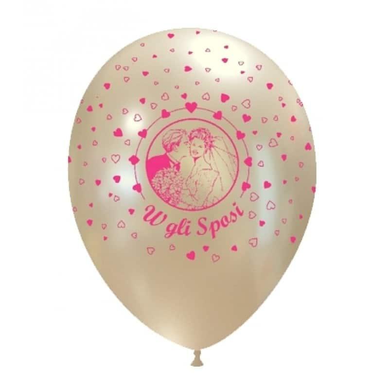 palloncini sposi coppia stampa globo