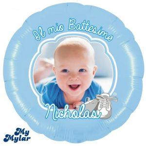 Palloncini personalizzati battesimo foto nome grandi